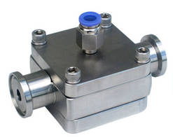 Back Pressure Regulators feature integral tri-clamp ferrules.