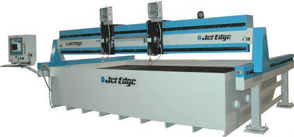 Waterjet Cutting Machine processes material up to 5 x 13 ft.