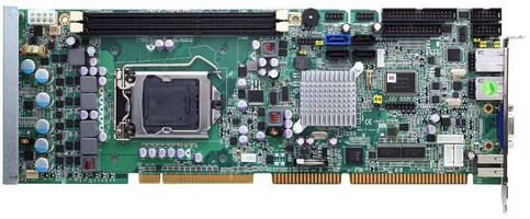 PICMG 1.0 Full-Size CPU Card offers diverse I/O options.