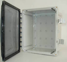 Industrial Enclosures feature polycarbonate construction.