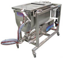 Food Processing Depositer handles chunky, flowable products.