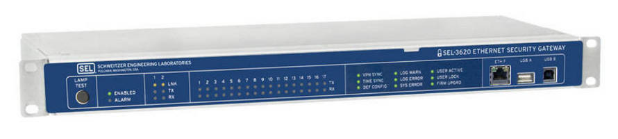 Ethernet Security Gateway provides password and account management.