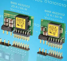 Vertical-Mount POL Voltage Regulators have compact design.