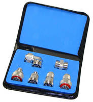 7-16 DIN Adapter Kit is available with white bronze plating.