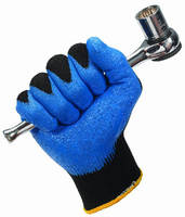 Blue Nitrile Foam Coated Gloves feature washable design.