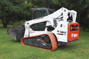 Loader Replacement Track creates minimal ground disruption.