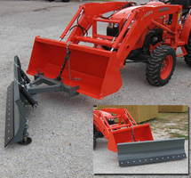 Clamp-On Snow Blades turn tractors into snow removers.