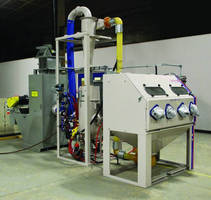 Industrial Shot Blasting Cabinet features 2 work stations.