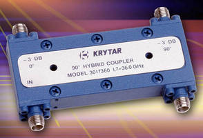 Quadrature Hybrid Coupler has compact, 90 degree design.