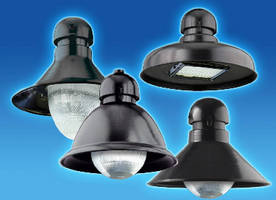 LED Luminaires offer prismatic bowl and tear drop optics. .