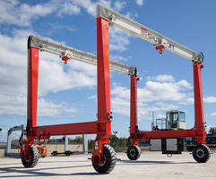 Double-Beam Mobile Gantry Cranes suit concrete, steel industries.