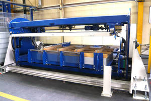 Depalletizing Machine is designed for metal sheet packages.