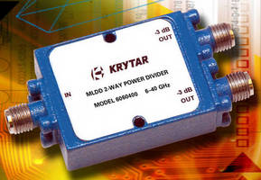 Two-Way Power Dividers cover broadband from 6.0-40.0 GHz.