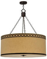 Pendant Fixture has fabric, ceiling-mount design.