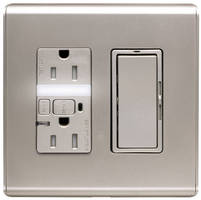 Switches, Dimmers, and Receptacles have titanium design.
