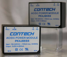 PCB-Mount AC/DC Switching Power Supply delivers 4 W output.