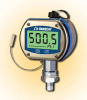 Digital Pressure Gauge features metric fittings and ranges.