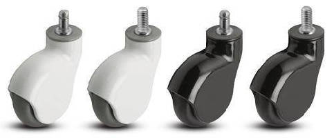 Light-Duty Casters provide debris-free operation. .