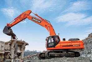 Crawler Excavator complies with iT4 emission regulations.