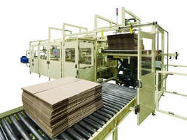 Horizontal Case Packer is designed for rolled and folded products.