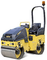 Tandem Vibratory Roller  offers all-around visibility.