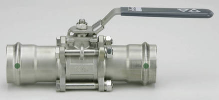 Three-Piece Ball Valve is constructed of stainless steel.