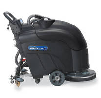 Automatic Floor Scrubber provides 200 rpm brush speed.