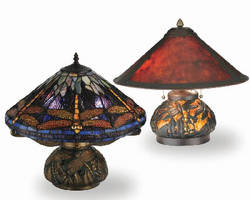 Table Lamps feature dragonfly accents.