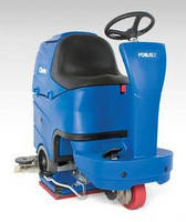 Riding Floor Scrubber has compact design.