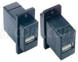 Unshielded USB 2.0 Couplers offer secure panel-mounting.