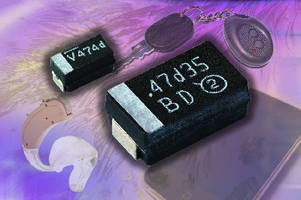 Tantalum Chip Capacitors offer lo DC leakage current of 0.005 CV.