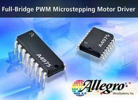 PWM Microstepping Driver IC offers synchronous rectification.