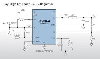 DC-DC Regulators suit space-constrained applications.