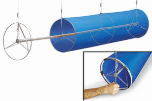 In-Duct Tensioning Systems  feature lightweight metal framework.