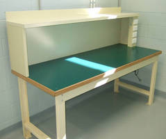 Chemical-Resistant Bench incorporates power sockets.
