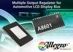 Multi-Output Regulator is intended for automotive LCD bias.