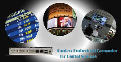 Fanless Embedded Computers suit digital signage applications.