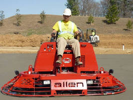 Riding Trowel features all-hydraulic powered design.