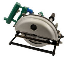 Pneumatic Circular Saw dry cuts steel and non-ferrous metal.