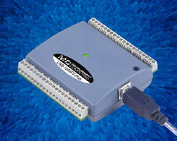 USB DAQ Device  offers sampling rates up to 400 kS/sec.