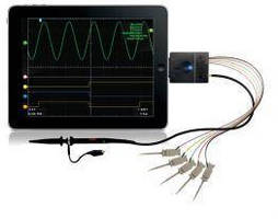 Mixed Signal Oscilloscope works with iOS devices.