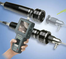 Portable Video Camera attaches to rigid/flexible Hawkeye borescope.