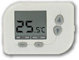 Digital Programmable Thermostat  offers heat pump control.