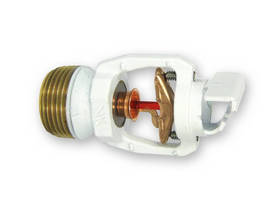 Horizontal Sidewall Sprinkler  features a 28 ft wide coverage area.