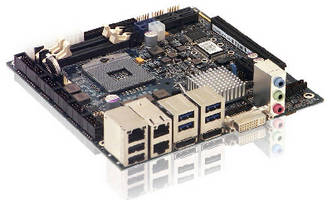 Mini-ITX Motherboard offers extended graphics capabilities.