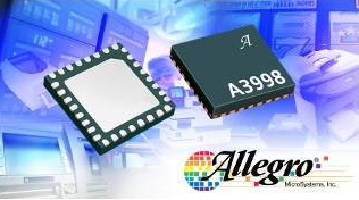 Full-Bridge Motor Driver IC supplies power to office equipment.