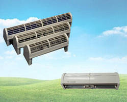 Air Curtain utilizes electronically commutated technology.