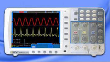 Two-Channel Bench-Top Oscilloscope provides deep memory.