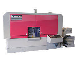 Automatic Bandsaw  provides high-speed cutting of aluminum.