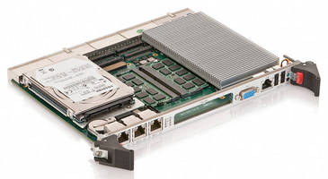 CompactPCI 6U Processor Board supports 3rd Gen Intel Core CPUs.